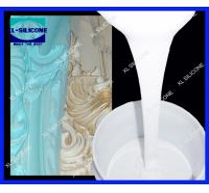 China RTV Molding silicone rubber for gypsum/plaster cornice moldmaking (Tin Condensation silicone rubber on sale