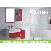 Wall Mounted Modern Bathroom Vanity Cabinets PVC With 5mm Thickness Sliver Bathroom Mirror Manufactures