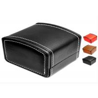 MDF Core Watch Packing Box Black And White Pu Leather Custom Logo TW-036 Manufactures