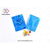 Child Proof Resealable Foil Bags , Foil Packaging Bags For Medicine Pills Tablets And Drugs Manufactures