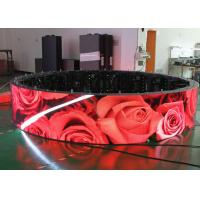 Quality P2.5 SMD 3 In 1 Flexible Led Display Panels , Shopping Mall Soft Led Screen for sale