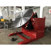 Red Pipe Welding Positioners Titling And Rotary Table For Pipe Turning Welding Manufactures