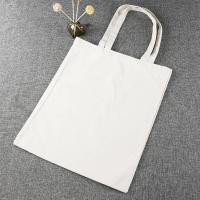 Handheld Style Reusable Canvas Bags , Personalized Canvas Tote Bags Manufactures