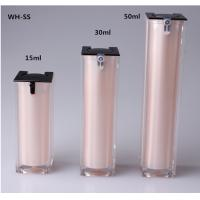 15ml 30ml 50ml Free Sample Luxury Skin Care Double Wall Square White Slim Cosmetic airless Pump Sprayer Manufactures