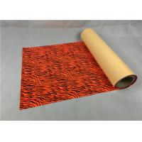 Cold Peel Metallic Vinyl Rolls Superior Red Color Anti - Counterfeiting Function Manufactures