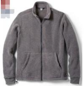 Windproof Mens Polar Fleece Jacket , Yarn Dyed Mens Fleece Lined Coat Manufactures