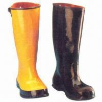 China Rubber Rain Boots, Covered, 42cm High on sale