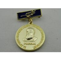 3D Iron or Brass / Copper Custom Awards Medals with Die Casting, High 3D and High Polishing Manufactures