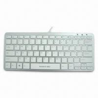 China White Ultra Slim Multimedia Keyboard in Mac Style, with Laser Inscribed Letters on sale