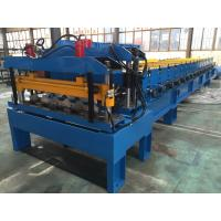 Galvanized Steel Steel Tile Roll Forming Machine 0.4-0.6mm Thickness Manufactures