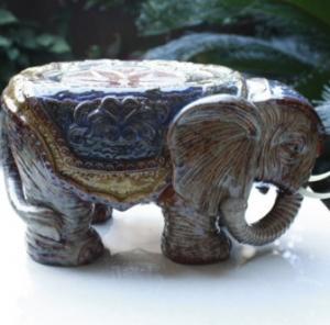 CREATIVE CERAMIC GLAZE AUSPICIOUS ELEPHANT ORNAMENTS CRAFTS Manufactures