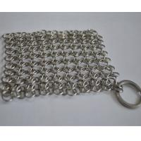 Round Stainless Steel Ring Mesh / Chainmail Scrubber For Cleaning Kitchenware Manufactures