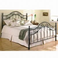 China Wrought Iron Bed with 1,400 x 2,000mm, 1,600 x 2,000mm, 1,800 x 2,000mm Sizes on sale