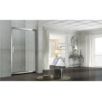 Without Magnetic Seals Glass Shower Screens Double Sliding Stainless Steel One Fixed Panel Manufactures