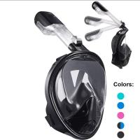 Dry Top Set Full Head Snorkel Mask Easy Breathing With Liquid Silicone Material Manufactures