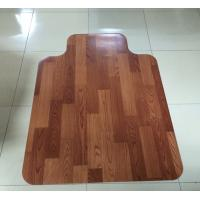 Custom Rolling 45 x 53 Wood Floor Chair Mat For Thick Carpet / Laminate Floor Manufactures