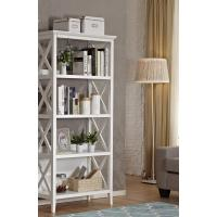 4 Shelf White / Brown Wooden Book Case With Both Sides X Design Manufactures