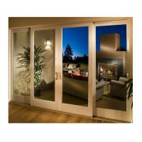 Glass Wooden Sliding Doors Full Set Four Leaf White Painted for Living Room Manufactures