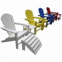 Foam PE Plastic Adirondack Chair for Outdoor Usage, Made of HDPE Manufactures