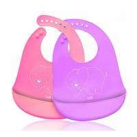Waterproof Soft Silicone Baby Apron Bib Easily Wipes Clean Customized Size