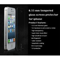 China iPhone tempered glass screen protector 0.33 mm 9H 2.5D round edge high transparency on sale