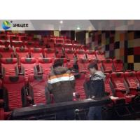 Extraordinary Sound Vibration 4D Movie Theater With Black Vibration Chairs Manufactures