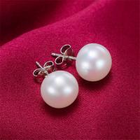 Natural Pink Freshwater Pearl Jewelry Earrings , Freshwater Pearl Stud Earrings