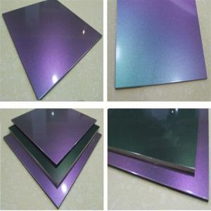 China Chameleon PVDF Aluminum Composite Panel For Decoration on sale