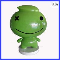 China customize company brand statues of fiberglass material  in hotel company outdoor exhibition decoration wholesale