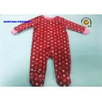 China Circle AOP Baby Pram Suit 100% Polyester Micro Fleece Long Sleeve Coveralls on sale
