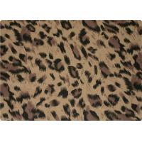 100% Polyester Stretch Fabric Leopard Print Fabric For Interlining / Lingerie Manufactures
