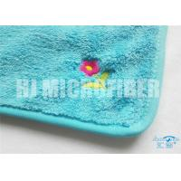 China Super Soft And High Water Absorption Factory Direct Blue Printed Microfiber Cleaning Cloth  100%Economy  30X40cm on sale