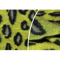 Leopard Print Wool Jacquard Fabric Tweedy Suiting For Business Apparel Manufactures