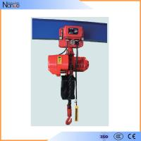 Wire Electric Chain Hoist / Rope Electric Chain Block With Motor Drive Manufactures