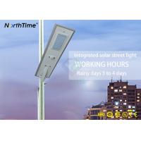 China Waterproof Outdoor 50 Watt LED Integrated Solar Street Light All In One With Infrared Motion Sensor on sale