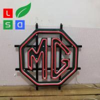 China Hand Making Custom Shop Adversting Logo Neon Light Signs With Metal Frame on sale