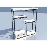 Apparel Store Retail Clothing Racks Custom Made Size Wooden Metal Material Manufactures