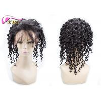 Swiss Lace Base Curly Full Lace Human Hair Wigs With Baby Hair Short Length , Brown Color Manufactures