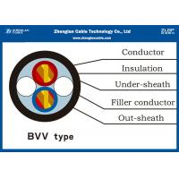 PVC Insulated Heat Resistant Cable/BVV Cable for house or building / Voltage :300/500V Manufactures