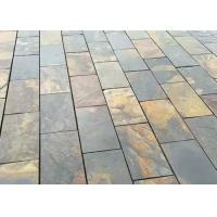 Gray Yellow Natural Stone Slate Tile For Flooring , Smooth Square Slate Tiles Manufactures