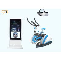 Fitness And Funny Virtual Reality Sports Simulators / 9d Vr Bike Ride Flexible Moving And Easy Operation Manufactures