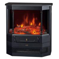 China Freestanding stove electric fireplace space room heater 3 sided logset flame effect Roman pillar EF332A EU Style on sale