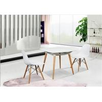 Elegant Simplicity EAMES Plastic Chair , PP White Charles EAMES Dining Chair Manufactures