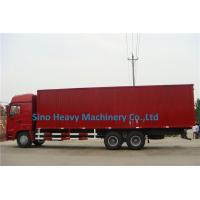 2 Axles Manual Low Bed Trailer / Two Single Red Lorry Trailer Manufactures