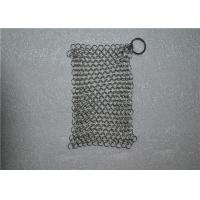 Square Shape Stainless Steel Chainmail Cast Iron Cleaner Lightweight Manufactures