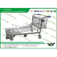 Portable Powder Coated Luggage Wire Steel heavy duty flat bed trolley with wheels Manufactures