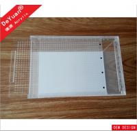 Clear Rectangle Acrylic Fish Tank / Lucite Mini Fish Tank Laser Printing Manufactures