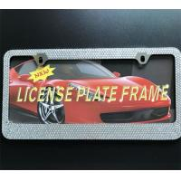 Rhinestone Diamond Bling Crystal License Plate Frame , Girly License Plate Frames Manufactures
