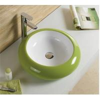 Round Bathroom Ceramic Sinks Green Dual-Color Sanitary Ware Basin Bathroom Hand Wash Basin Manufactures