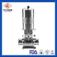 3PC  Hygienic Ball Valve Low Pressure PTFE Sealing High Polished Dust Proof Manufactures